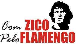 Com Zico pelo Flamengo